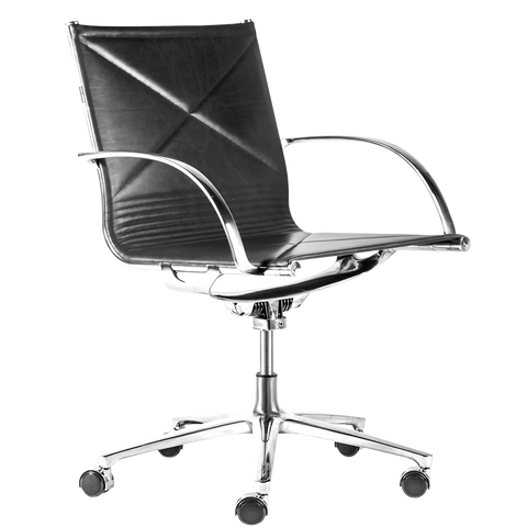 JOINT 1211 OFFICE CHAIR BLACK LEATHER