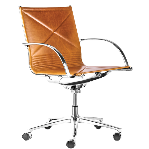 JOINT 1211 OFFICE CHAIR YELLOWSTONE LEATHER