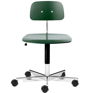 KEVI 2533 OFFICE CHAIR ASH BOTTLE GREEN