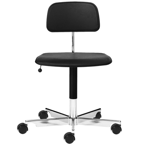KEVI 2533 OFFICE CHAIR BLACK LEATHER