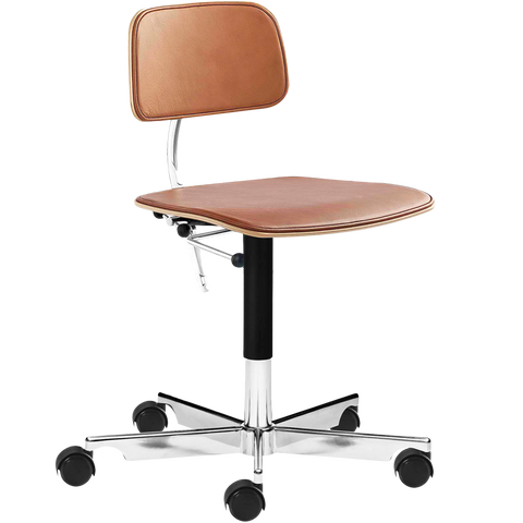 KEVI 2533 OFFICE CHAIR BRANDY LEATHER
