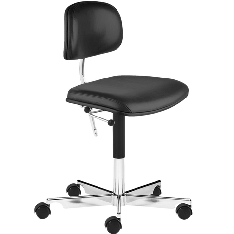 KEVI 2534U OFFICE CHAIR BLACK LEATHER