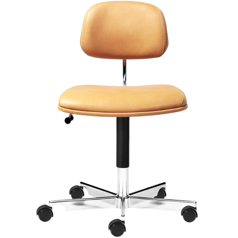 KEVI 2534U OFFICE CHAIR YELLOW LEATHER
