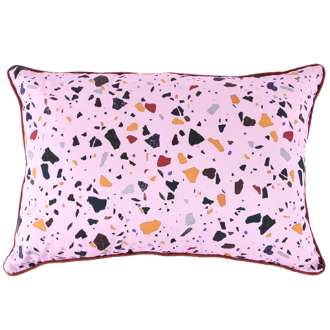 TERRAZZO CUSHION RECTANGLE PINK