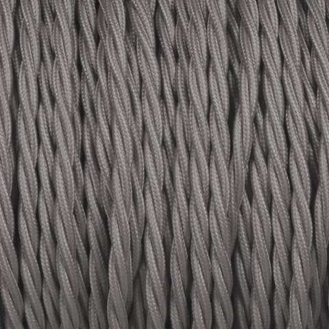 ELEPHANT GREY TWISTED FABRIC CABLE - FABRIC CABLE - DYKE & DEAN  - Homewares | Lighting | Modern Home Furnishings