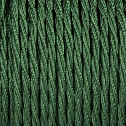 FOREST GREEN TWISTED FABRIC CABLE - FABRIC CABLE - DYKE & DEAN  - Homewares | Lighting | Modern Home Furnishings
