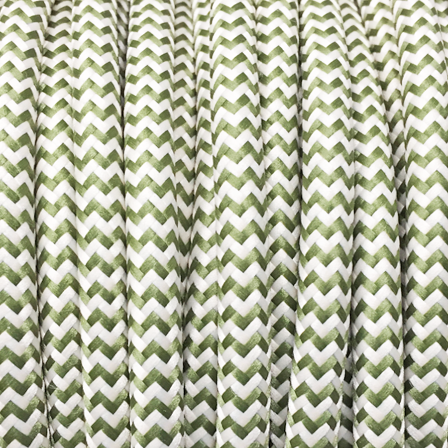 OLIVE ZIG ZAG FABRIC CABLE