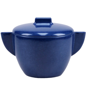MELAMINE SUGAR BOWL BLUE