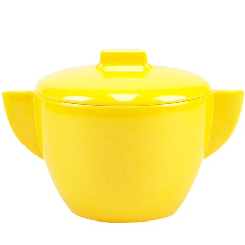 MELAMINE SUGAR BOWL YELLOW