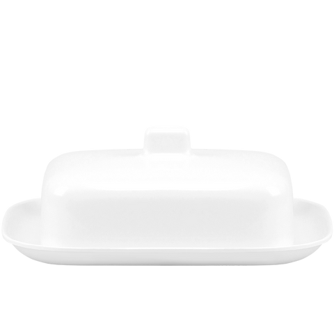 MELAMINE BUTTER DISH WHITE - KITCHENWARE - DYKE & DEAN  - Homewares | Lighting | Modern Home Furnishings
