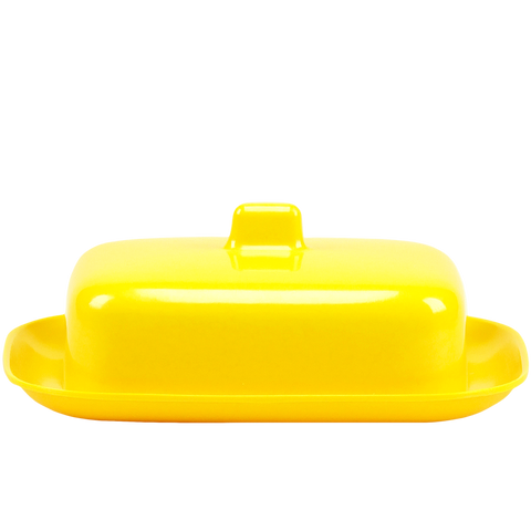 MELAMINE BUTTER DISH YELLOW