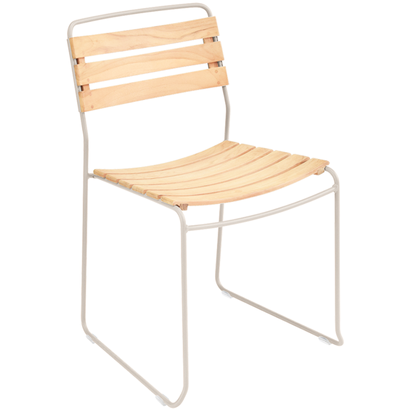STACKING SCHOOL CHAIR TEAKWOOD