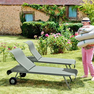 FABRIC SUN LOUNGER