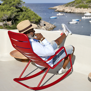 OUTDOOR ROCKING CHAIR - LOUNGE CHAIRS - DYKE & DEAN  - Homewares | Lighting | Modern Home Furnishings