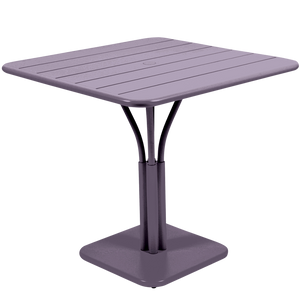 SQUARE SLATTED PILLAR OUTDOOR TABLE 80