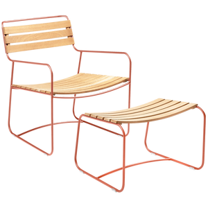 OUTDOOR TEAK LOUNGER SET