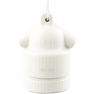 OFF WHITE CERAMIC E27 FESTOON BULB HOLDER