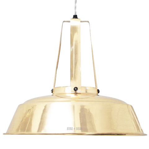 FINNED NECK BRASS SHADE