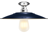 FIXED FLAT NAVY ENAMEL SHADE