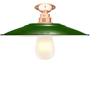 FIXED FLAT GREEN ENAMEL SHADE