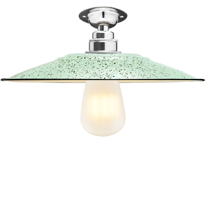 FIXED FLAT MINT GREEN SPECKLE ENAMEL SHADE