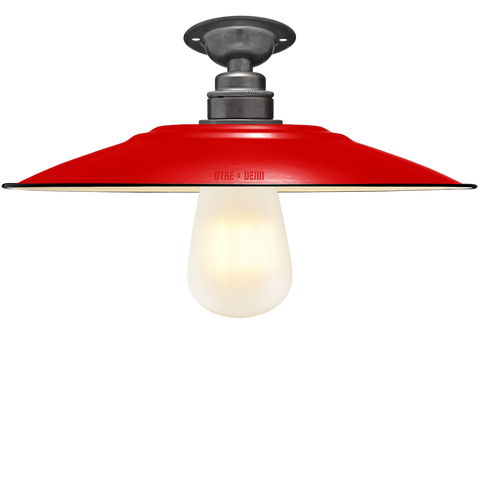 FIXED FLAT RED ENAMEL SHADE