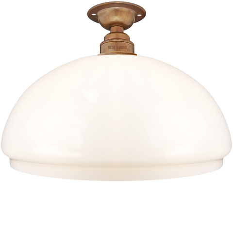 FIXED OPAL DOME GLASS SHADE MEDIUM