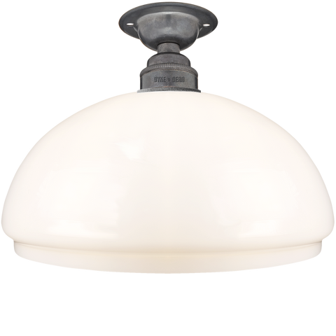 FIXED OPAL DOME GLASS SHADE SMALL