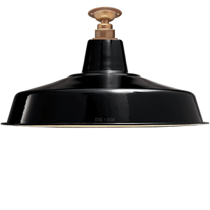 FIXED LARGE BLACK ENAMEL SHADE