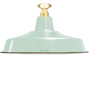 FIXED LARGE MINT GREEN ENAMEL SHADE