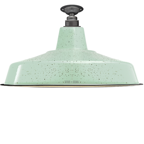 FIXED LARGE MINT GREEN SPECKLE ENAMEL SHADE