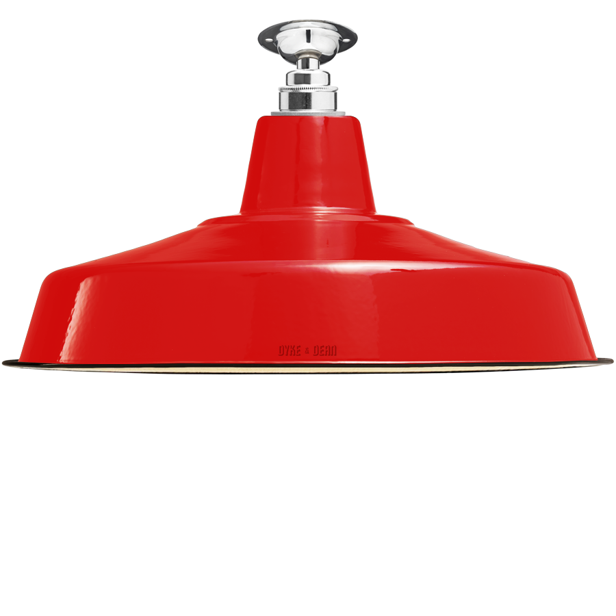 FIXED LARGE RED ENAMEL SHADE