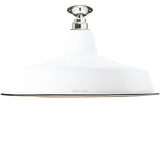 FIXED LARGE WHITE ENAMEL SHADE