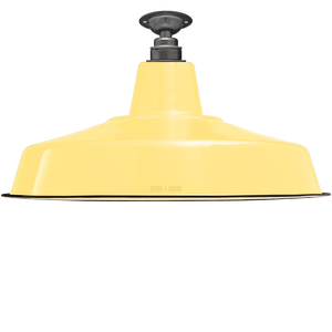 FIXED LARGE CUSTARD ENAMEL SHADE