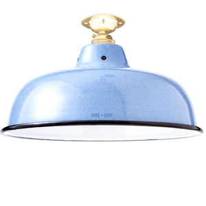 FIXED NECK VENT BLUE ENAMEL SHADE