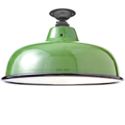 FIXED NECK VENT GREEN ENAMEL SHADE