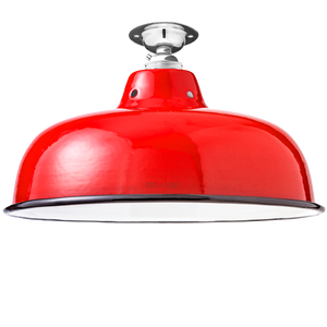 FIXED NECK VENT RED ENAMEL SHADE