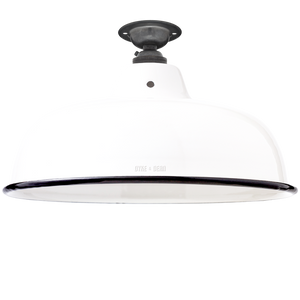 FIXED NECK VENT WHITE ENAMEL SHADE