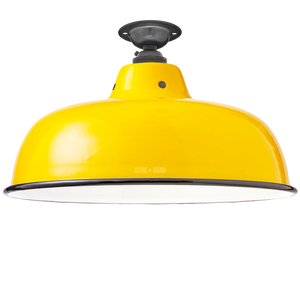 FIXED NECK VENT YELLOW ENAMEL SHADE