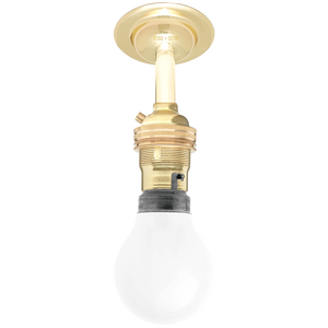 BRASS FIXED EXTENDED BAYONET WALL BULB HOLDER