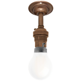 BRONZE EFFECT FIXED EXTENDED BAYONET WALL BULB HOLDER