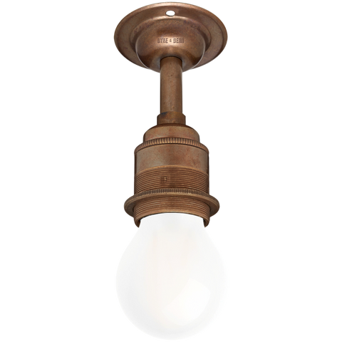 BRONZE EFFECT FIXED EXTENDED E27 WALL BULB HOLDER