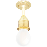 BRASS FIXED EXTENDED E27 WALL BULB HOLDER