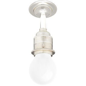 NICKEL FIXED EXTENDED E27 WALL BULB HOLDER