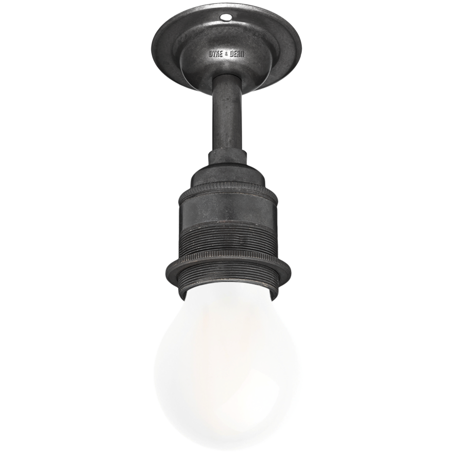 DARK BRASS FIXED EXTENDED E27 WALL BULB HOLDER