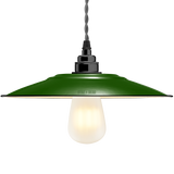 FLAT GREEN ENAMEL SHADE