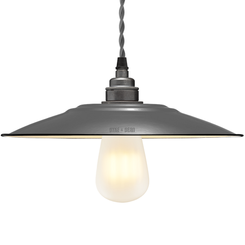 FLAT GREY ENAMEL SHADE