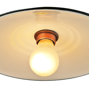 FLAT CUSTARD ENAMEL SHADE