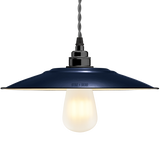FLAT ROYAL BLUE ENAMEL SHADE