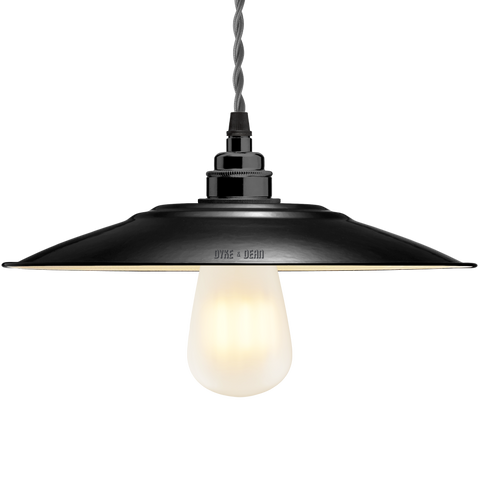 FLAT BLACK ENAMEL SHADE